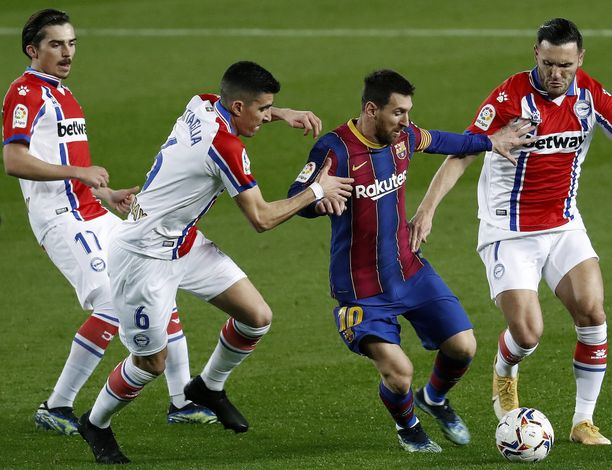Alaves ei saanut Lionel Messiä kuriin lauantai-iltana.