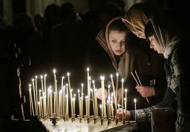 Myös Liettuan Vilnassa kokoonnuttiin juhlimaan joulua.