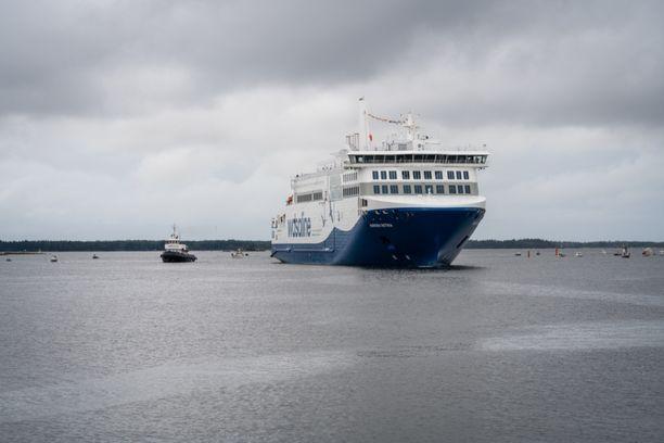 Aurora Botnia vihittiin käyttöön 25. elokuuta. Kuva vihkimispäivältä.