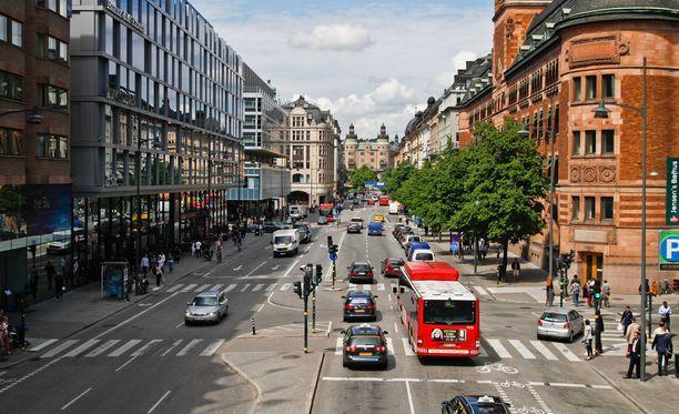 Ruotsin turvallisuuspoliisi Säpo ei ole kommentoinut uhan syytä tarkemmin. Kuvituskuva Tukholman keskustasta.