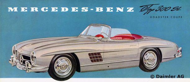 Mercedes-Benz 300 SL Roadster esite vuodelta 1957.