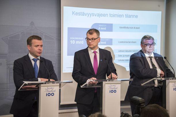 Pääministeri Juha Sipilä sanoi aiemmin tiistaina, että uusia salkkuja tulee kolme tai ei yhtään.