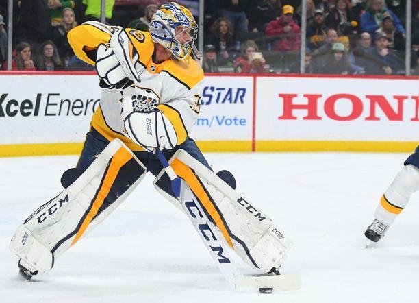 Nashville Predatorsin Pekka Rinne on viimeinen maalivahti, joka on tehnyt maalin NHL:ssä.