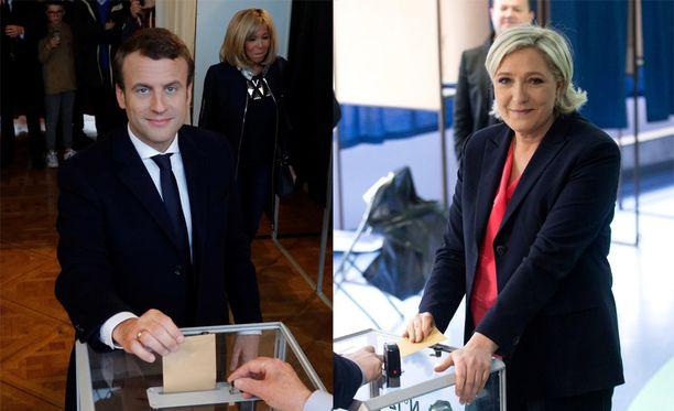 Myös molemmat ehdokkaat ehtivät jo käydä antamassa äänensä.