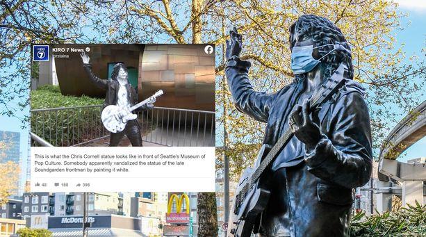 Chris Cornellin patsas pystytettiin Seattleen vuonna 2018.