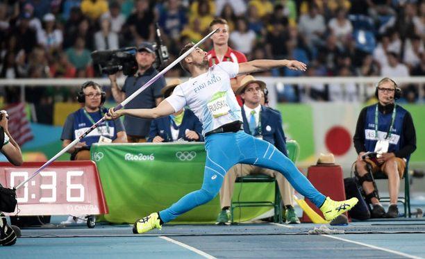 Antti Ruuskanen pystyi heittämään Riossa täydellä teholla.