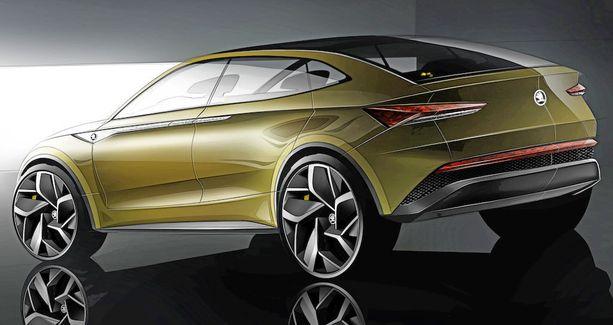 Takapään muotoilussa on yhtä paljon VW-piirteitä kuin Skodaa.