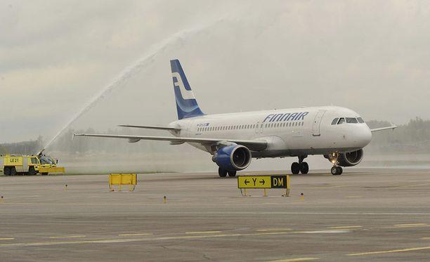 Finnair aikoo käyttää punnitusten tietoja matkustajien keskivertopainojen päivittämiseen.