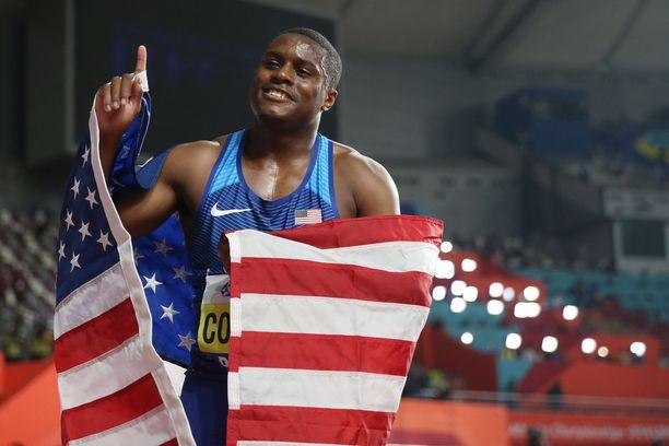 Christian Coleman on hallitseva 100 metrin maailmanmestari.