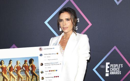 Spice Girls -tähdet sonnustautuivat ikonisiin Baywatch-uimapukuihin – vanha kuva leviää netissä kulovalkean lailla