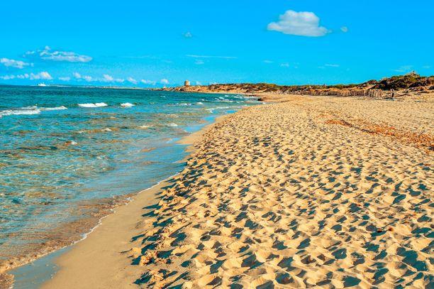 Kaunis El Cavallet on toinen Ibizan virallisista nudistirannoista.