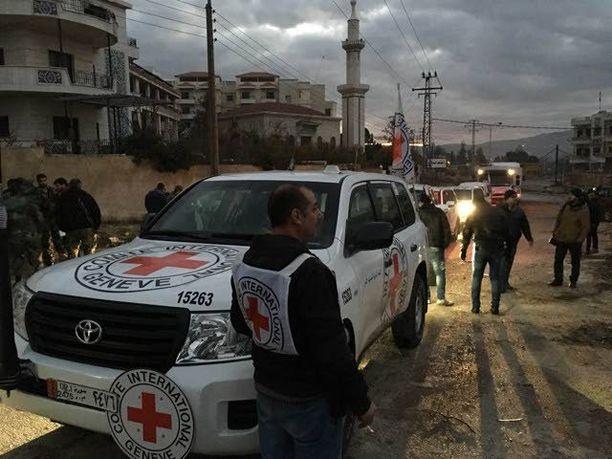 Kansainvälisen Punaisen Ristin työntekijät pääsivät maanantaina Madayaan, missä heitä odottivat järkyttävät olot.