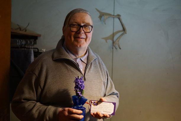Markku Ahonen iloitsee odottamattomasta joulutervehdyksestä.