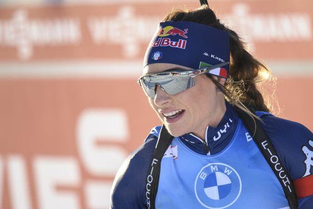 Dorothea Wierer nappasi sunnuntaina kolmossijan.