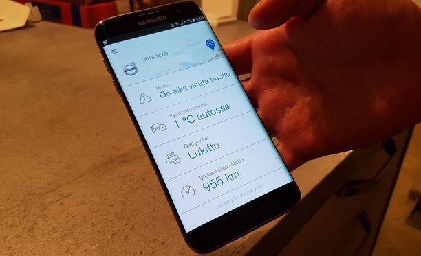 Useat autovalmistajat tarjoavat kuluttajille älypuhelinsovelluksia, joilla pystyy muun muassa paikantamaan oman autonsa.