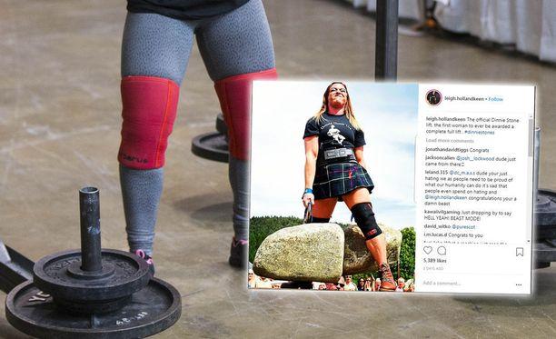 Leigh Holland-Keen onnistui vuoden harjoittelun jälkeen hurjassa voimasuorituksessa.
