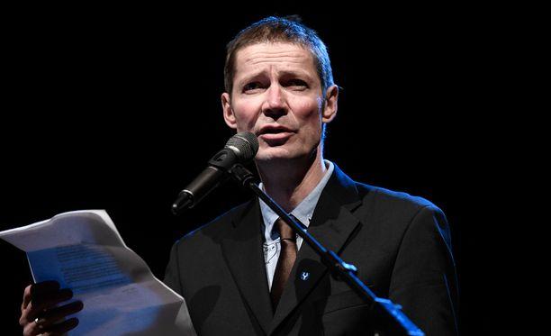 Juha Hurme pokkasi Finlandia-palkinnon keskiviikkona Helsingissä.