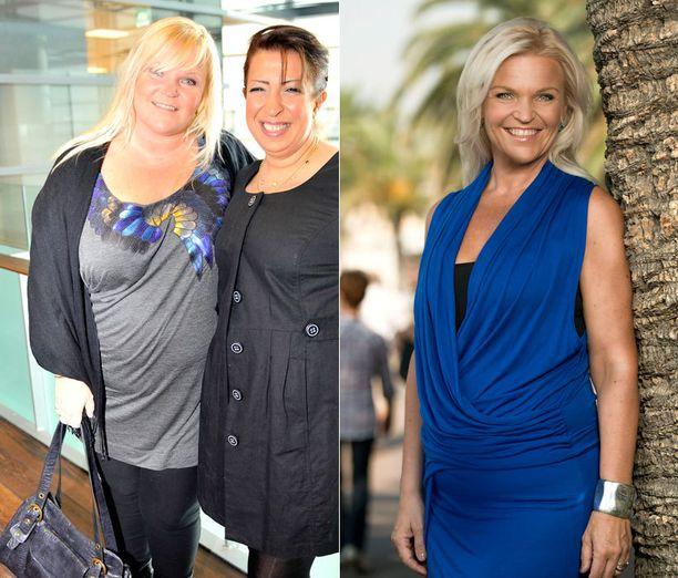 Vuonna 2010 ja laihdutusurakan jälkeen vuonna 2012.