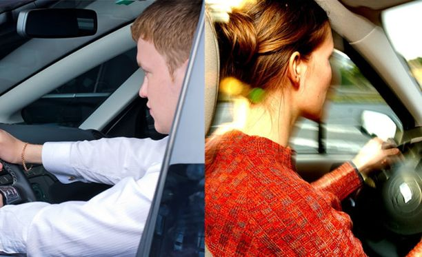 Sekä miehet että naiset sortuvat virheisiin liikenteessä.