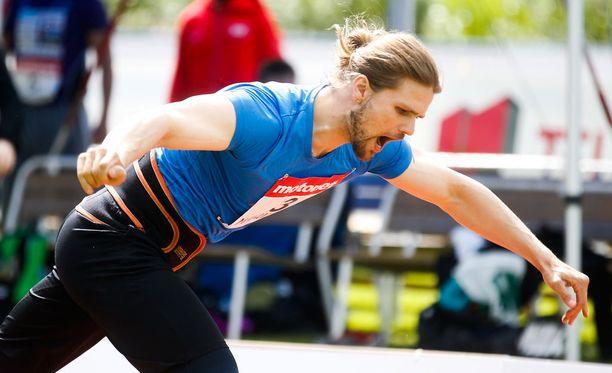 Harri Haatainen oli viides keihäskarnevaaleilla tuloksella 74,71.