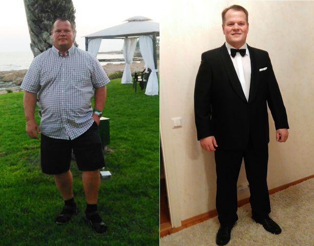 """20 kilon laihtuminen tekee liikkumisesta helpompaa. Terho pelaa taas """"ikämieskiekkoa""""."""
