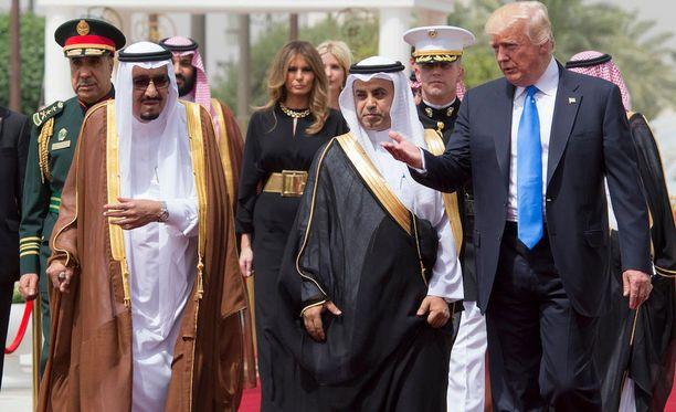 Donald Trump on parhaillaan ensimmäisellä ulkomaanmatkallaan Yhdysvaltain presidenttinä.
