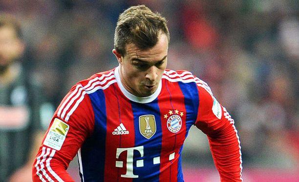 Xherdan Shaqiri on loikkaamassa Bayernista Interiin.