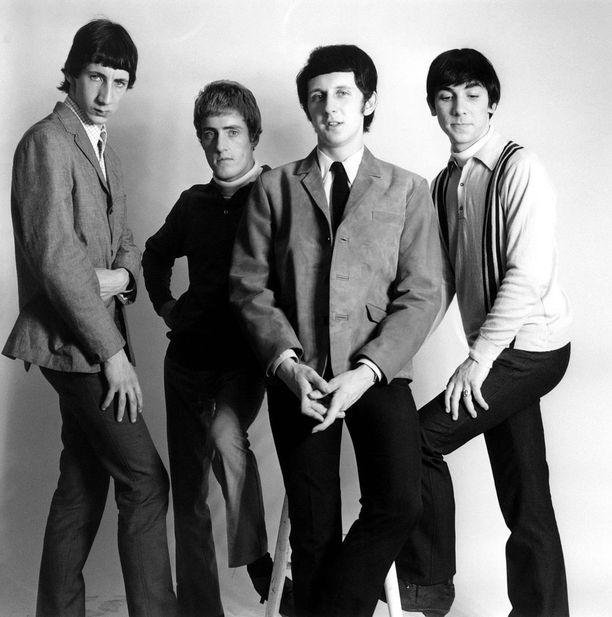 Pete Townshend ja Roger Daltrey keikkailevat yhä bändinsä kanssa. Kuvassa myös The Whon edesmenneet alkuperäisjäsenet John Entwistle ja Keith Moon,