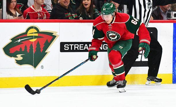 Mikael Granlund on enää viiden pisteen päässä uransa parhaasta NHL-saldosta. Tällä kaudella kiekkotaituri on tehoillut luvut 11+28=39.