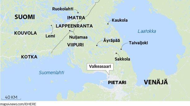 Suomen puolustuksen päälinja sijaitsi kesäkuussa 1944 Valkeasaaressa.
