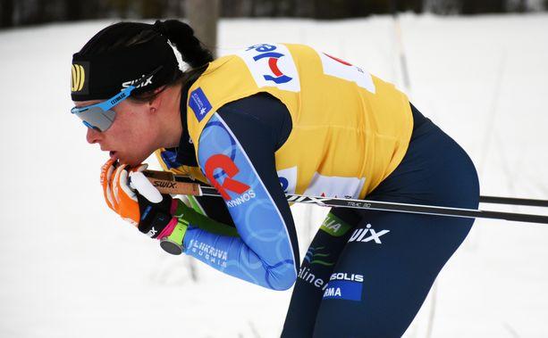 Krista Pärmäkoski saa valmentajaltaan kouluarvosanan kahdeksan.