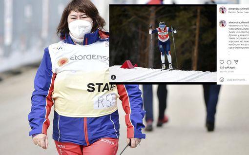 Jelena Välbe tuohtui venäläishiihtäjälle – syytti tätä Norjan hiihtoasun käyttämisestä