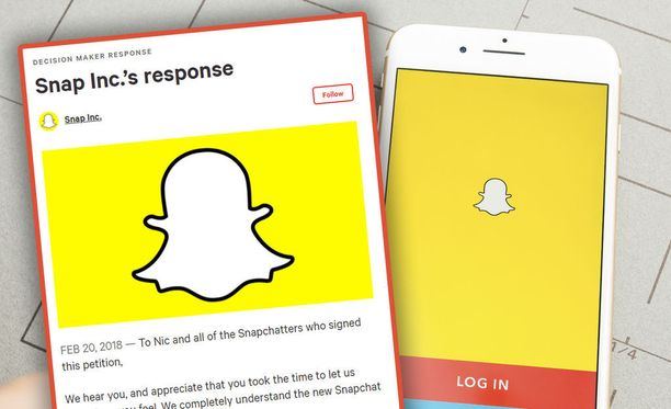 Snapchatin päivitys on saanut monet käyttäjät vihaiseksi.