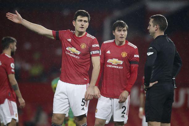 Harry Maguiren ja Victor Lindelöfin johtama United-puolustus ei ole ollut turhan tiivis.