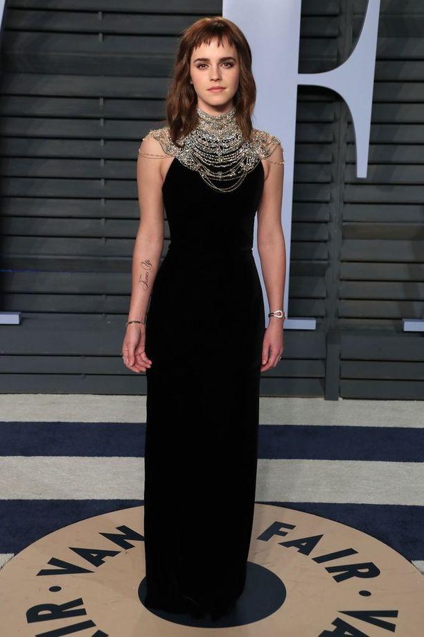 Emma Watson pukeutui Orcar-gaalaan Ralph Laurenin iltapukuun.
