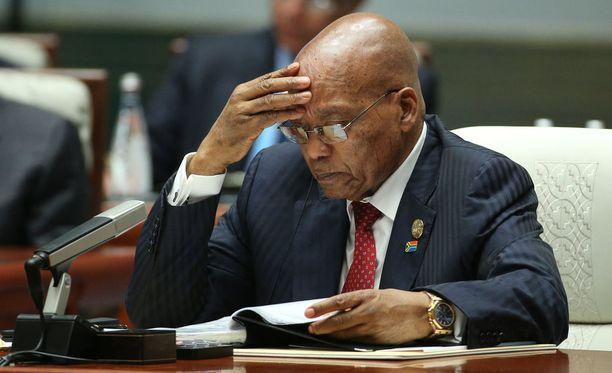 75-vuotias Zuma on toiminut Etelä-Afrikan presidenttinä vuodesta 2009 lähtien.