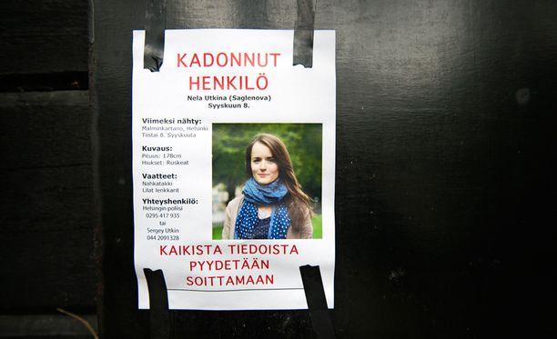 27-vuotias Nela Saglenova on ollut kadoksissa liki puolitoista viikkoa.