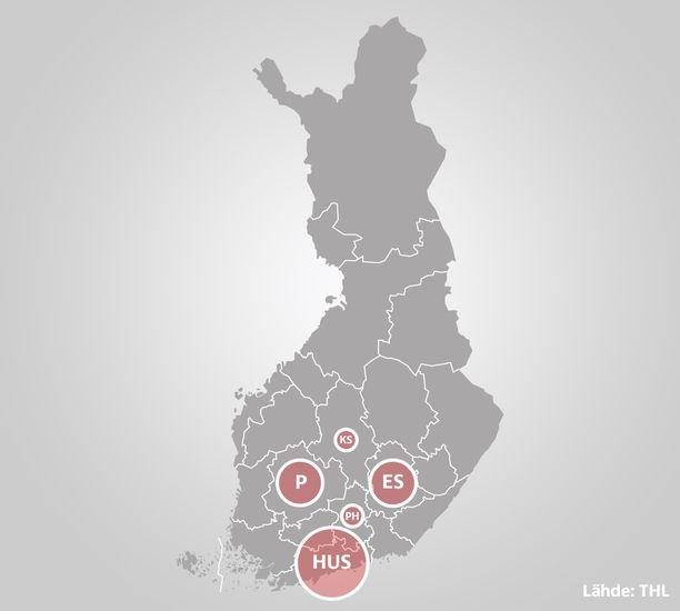 Koronaryppäitä on tavattu eri puolilla Suomea.