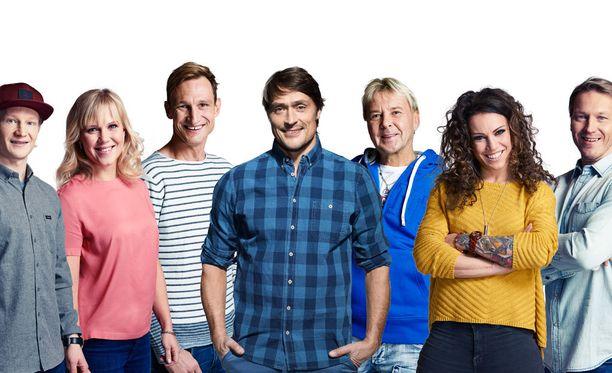 Peetu Piiroinen, Minea Blomqvist, Sami Hyypiä, Teemu Selänne, Matti Nykänen, Eva Wahström ja Toni Kohonen nähdään kevään Supertähdet-ohjelmassa.