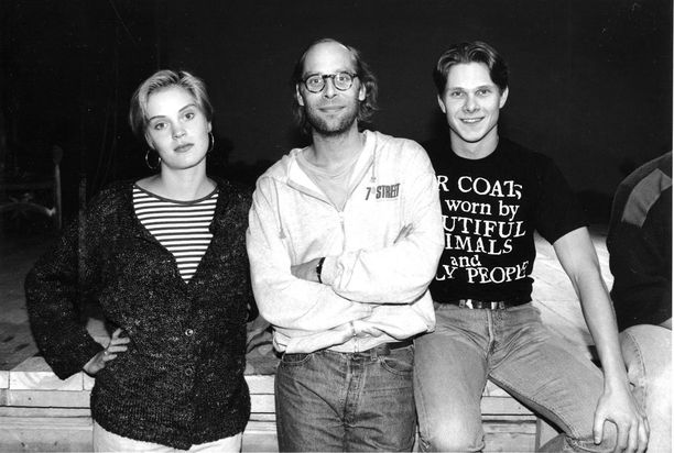 Vuonna 1991 Vierikko poseerasi kollegoidensa Tiina Lymin ja Kari-Pekka Toivosen kanssa.