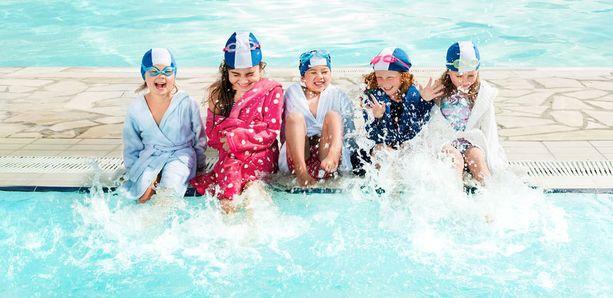 Uimakoulu sopii lapsille.