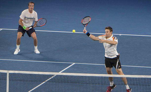 Henri Kontinen ja John Peers hävisivät nelinpelin toisen kierroksen ottelun Miamin ATP Masters -tennisturnauksessa. Kuva tammikuussa pelatusta Australian avoimesta tennisturnauksesta.