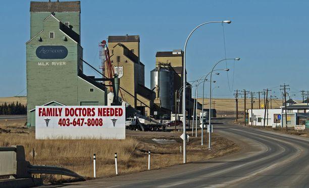 Näkymä Albertasta, Kanadan rajaseudulta.