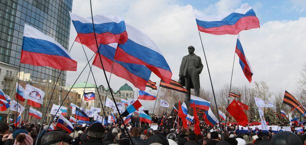 Tältä näytti Donetskin keskustassa viime sunnuntaina.