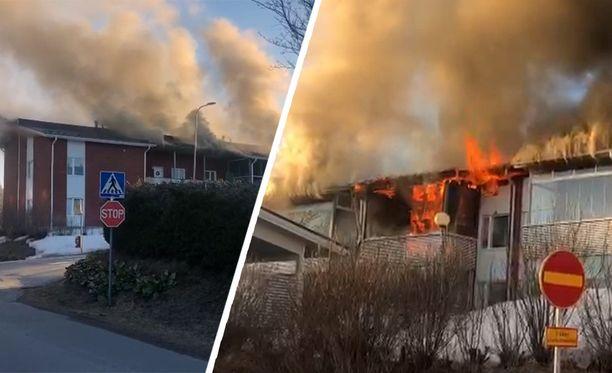 Tulipalo näytti aluksi pahalta, mutta pelastuslaitos oli paikalla nopeasti.