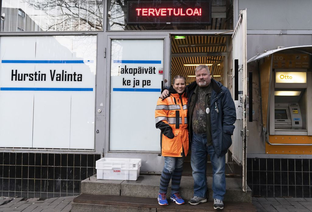 Isä ja tytär, Heikki ja Sini Hursti.