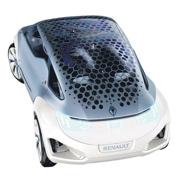 """AURINKOKENNOT """"Hunajakennot"""" katolla keräävät autoon aurinkoenergiaa."""