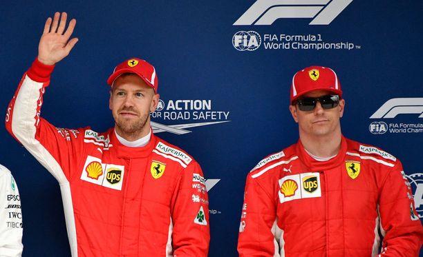 Sebastian Vettel johtaa tämän kauden MM-sarjaa 54 pisteellä. Kimi Räikkönen on kerännyt kolmesta kisasta 30 pistettä.
