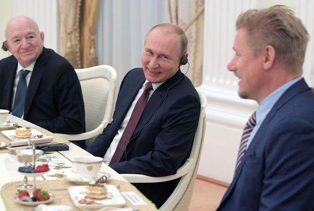 Kun presidentti tapaa vieraita Moskovassa, tarjoilut ovat hulppeat.