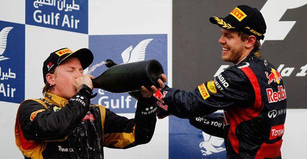 Kimi Räikkönen ja Sebastian Vettel valloittivat Bahrainin GP:n kärjen.